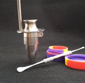 Honey Bucket Titanium Nagel 10mm 14mm 18.8mm Einstellbarer Titanium Nagel Werkzeugsatz mit Cowboyhut Carb Cap Tupfer und freiem Silikonglas