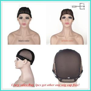Gorra de peluca para hacer pelucas con correa ajustable en la parte trasera. Tapa de tejido S / M / L sin pelusa. Gorra de buena calidad. Envío gratis.