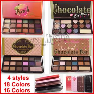 На складе Face палитра теней для век 18 цвета Персики глаз тени шоколада Естественная любовь Eyeshadow косметик DHL Бесплатная доставка