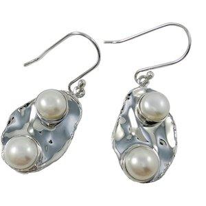 Pendientes colgantes de perlas no ajustables para E6476 Fiesta de verano Pendientes vintage 925 Pendientes baratos de plata en línea