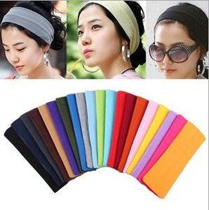 20*5cm Candy Color Vogue Women Yoga Sport Headband Simple Hairband Elastic Headband Sports Yoga Accessory headbands