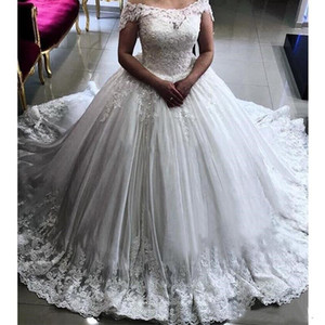 2018 New Designer Top Quality wedding dresses Ball Gown gorgeous and Cap Sleeves With Sweetheart wedding gowns