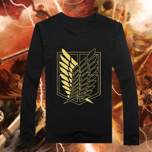 Trasporto libero nuovo arrivo giapponese anime Attack on Titan Scouting Legion Wings Of Freedom Distintivo stampato t shirt 100% cotone