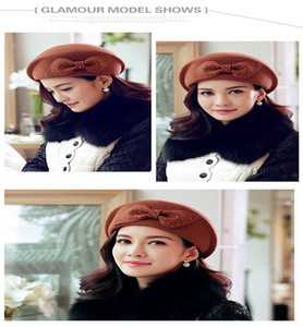 Korean Style Of The New Trend Of The Grace And Elegance Of Pure Wool Winter Hat Lady Banquet Warm Woolen Hat