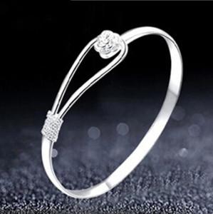 Bracciale con fiore romantico Bracciale in argento sterling 925 per donna all'ingrosso stella di san valentino con soldi per inviare la sua fidanzata