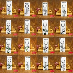 (Diseños de mezclas) Llavero Panda Llavero Llavero - Lindo Panda Coche llavero llavero anillo - Turismo Zoo Regalos de recuerdo