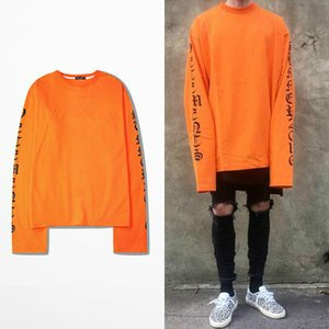 Wholesale- 2017ss Top Vetements Oversized Sweatshirts Men Women Hoodies Oversize Drooping Shoulders Men's Top Kanye West Fog Sweatshirt