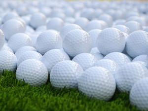Capas nuevo blanco juego de golf Partido de Formación Práctica de goma de bolas de doble alto grado pelota de golf blanca envío