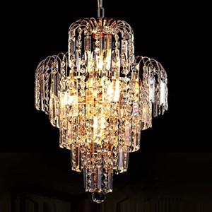 Vente en gros-luxe royal or cristal K9 lustre suspension cristal or chandeliers hall salon éclairage décoration de mariage