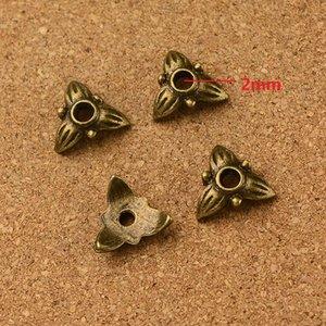 Klassiker der europäische Korn-Kappen kleinen Loch-Korn-Charme-antike Bronze Perlen geeignet für DIY passende Armband-Zink-Legierung 350 PC / Los 10 * 10mm