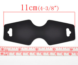 الجملة الأسود قلادة مجوهرات عرض بطاقات 11x4.5cm 50 ورقة شحن مجاني