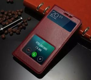 Belle Qualité Pour Xiaomi Hongmi Note 3 Cas Coloré Flip Cover Fenêtre De Luxe En Cuir Véritable Pour Xiaomi Hongmi Redmi Redrice Note 3