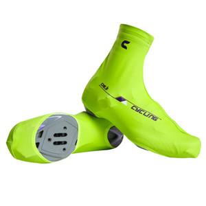 2017 Toptan Bisiklet Bisiklet Ayakkabı Kapakları Windproof Bisiklet Galoş MTB Bisiklet Galoş Bisiklet Fermuarlı Ayakkabı Kapakları