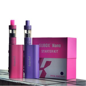 100% Otantik Kanger Subox Nano Başlangıç Kiti 3 ML Subtank Nano vape Atomizer ile 50 W Kbox nano siyah beyaz pembe mor stokta