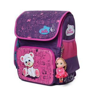Delune Cute School Bag Sac À Dos Orthopédique Enfants School Backpacks Caractère Zipper Sac À Dos Pour Enfants Filles Garçons