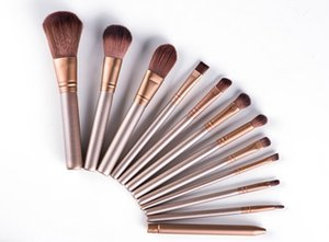 New 12pcs Brushes per set professional Cosmetic makeup brushes set with Metal box