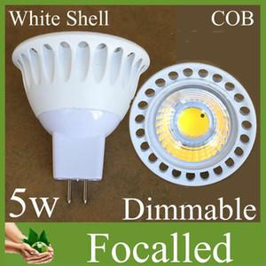 كري رقاقة 5 واط gu10 led لمبات cob led ضوء الأضواء مصباح 500lm عالية الطاقة عكس الضوء gu10 mr16 الدافئة بارد الأبيض led لمبة أضواء شحن dhl