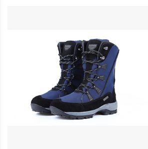 Botas de nieve impermeables para mujer Aislantes de invierno Cálido Martin Arranque Montañismo Senderismo Esquí Deportes Zapatos al aire libre Antideslizante con cordones