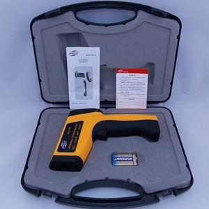 Freeshipping senza contatto 12: 1 LCD digitale a infrarossi IR di temperatura della pistola del termometro -50 ~ 1150C (-58 ~ 2102F) regolabile