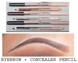 Wholesale-48pcs lot maquiagem eye brow Menow makeup Double Function Eyebrow Pencils & Concealer Pencils maquillaje