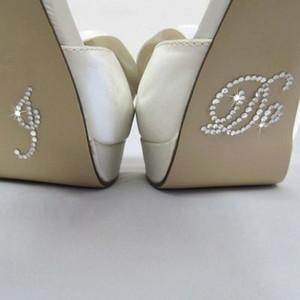 Adesivi per scarpe da sposa in cristallo blu Adesivi per fondali in cristallo da sposa fai da te Accessori da sposa I Do and Me Too Shoe Stickers Clear Rhinestone