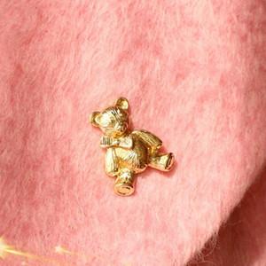 Moda Sevimli Küçük Hayvanlar Ayı Broş Korsaj Broş Golded Yaka Kadınlar Parti Chic Broş Toptan 12 Adet Takı Broşlar