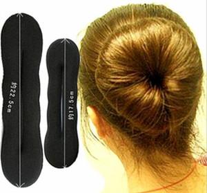 Venta al por mayor-TS 2015 venta caliente de las mujeres de espuma mágica esponja Hairdisk dispositivo de pelo Donut Quick Messy Bun Updo Headwear