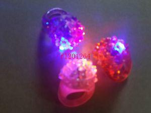 DHL Fedex Livraison Gratuite Nouvelle Arrivée Cool Led Lumière Up Flashing Bubble Ring Rave Party Clignotant Doux Gelée Glow, 500pcs / lot