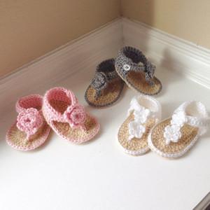 2015 nouveau-né bébé sandale au crochet, crochet bébé chaussures sandales fille au crochet 0-12M personnalisé