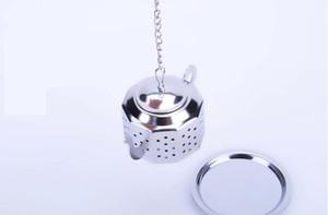 304 de Aço Inoxidável Prateado Bule Forma Tea Infuser Coador ferramenta atacado