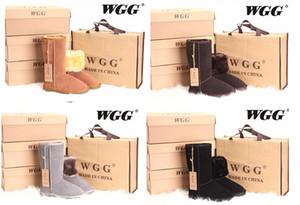 Il trasporto libero 2016 l'alto alto classico degli stivali delle donne di WGG di alta qualità inizializza gli stivali delle donne degli stivali di inverno della neve degli stivali di neve di formato 5 --- 13