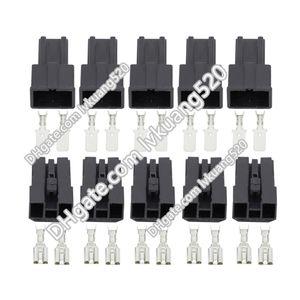 5 세트 2 핀 7.8mm 암 / 수 자동 커넥터 배터리 스피커 와이어 커넥터 플러그 DJ7026-7.8-11 / 21