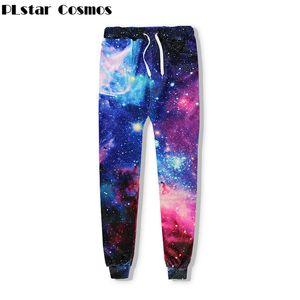Оптовая торговля-PLstar Cosmos бренд одежды пространство галактики тренировочные брюки Мужчины / Женщины бегунов брюки звездное небо 3D печати повседневная О-образным вырезом хип-хоп брюки