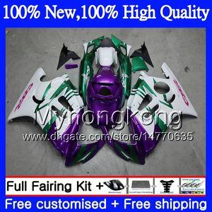 Bodys Motorcycle For HONDA CBR600RR F3 CBR600FS CBR 600 F3 97 98 48MY12 CBR 600F3 FS CBR600F3 Фиолетовый белый CBR600 F3 1997 1998 Обтекатель