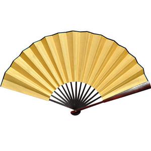 """10 """"8"""" grandes bricolaje blanco plegable abanicos de la mano adultos programas de pintura de Bellas Artes China paño de seda hombres abanicos de la mano abanicos decorativos de la boda"""