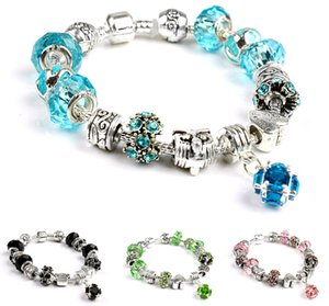 European and American DIY Crystal Beads Charm Bracelets Big hole New Fashion Jewelry Accessories Women Beaded Bracelet for Sale