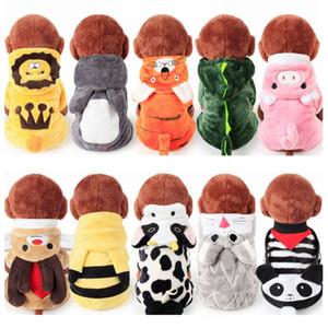Más barato de elección múltiple Soft Coral polar Invierno ropa para perros pijamas Mono de perro Monos de invierno para perros CAH035