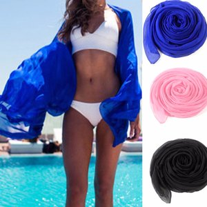 Venta al por mayor- 2017 Moda Mujer Verano Bufanda Vestido de playa Bikini Traje de baño Cubrir Sarong Wrap Pareo