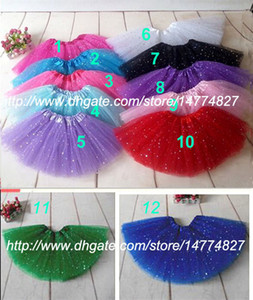 Baby Girls Sparkle 투투 Pettiskirt 스팽글 댄스 투투 스커트 Tulle Skirts 아동 파티 의류 New Hotsale