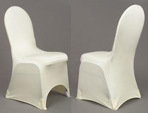 Stock Promotion: белый спандекс с передней арки Банкет Lycra крышки стула 100PCS с бесплатной доставкой