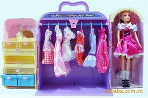 Puppen Box Spielzeug Box Puppen Box Hot Kinder reizendes Plüsch-Spielzeug Schrank Box Mode-Mädchen-Puppe spielt Große Box