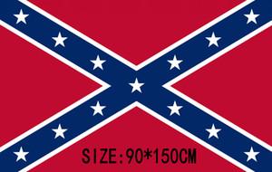 Конфедерации Rebel флаг Гражданской войны Конфедерации флаг Конфедерации боевых флагов две стороны печатных флаг полиэфира флаги футов 90x150cm