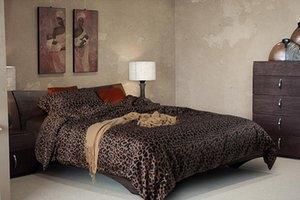 Luxury black leopard print bettwäsche-sets ägyptische baumwolle blätter king size königin quilt doona bettbezug bett in einer tasche bettdecke bedlinen