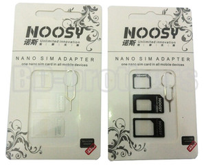 Adattatore Nano Sim Card 4 in 1, adattatore micro sim Noosy con Eject Pin Key 1000set / lotto