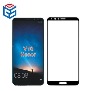 Per Huawei Honor V10 View 10 Full Cover in vetro temperato 9H Pellicola proteggi schermo imballaggio all'ingrosso