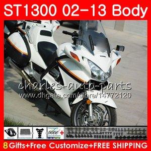 Kit Für HONDA STX1300 ST1300 Pan European Gloss White 07 08 09 10 11 12 13 93NO23 ST-1300 ST 1300 2007 2008 2009 2010 2011 2012 2013 Verkleidung
