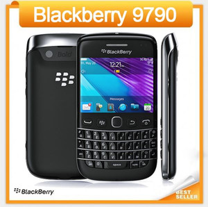 Original 9790 Desbloqueado Blackberry Bold 9790 GPS Do Telefone Móvel 5.0 MP 8 GB ROM Touchscreen + Teclado QWERTY celular Recondicionado