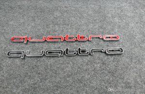 Di alta qualità Quattro Logo Emblema Badge Car Stick Adesivi ABS griglia anteriore rivestimento inferiore per Audi A4 A5 A6 A7 RS5 RS6 RS7 RS Q3