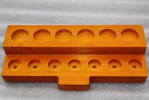 3 Styles Display in legno Standcase Mensola in legno Rack per 30 ml E-Juice Bottiglie e-Liquid RDA Atomizzatore 510 810 Punta a goccia Boccaglio Serbatoio