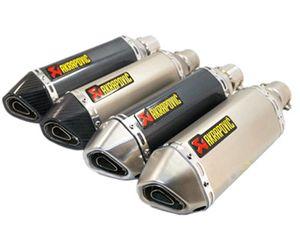 Akrapovic 38-51 ملليمتر العالمي للدراجات النارية تعديل سكوتر العادم الأنابيب الخمار تنفيس الأنابيب ل GY6 CBR CBR125 CBR250 CB400 CB600 CBZ YZF FZ400 Z750